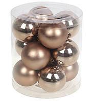 Пластиковые новогодние шарики, набор 12шт*4 см, фото 1