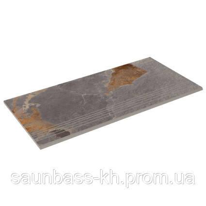 Бортовая прямая плитка Aquaviva Ardesia Loft, 595x289x20 мм