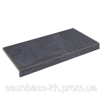 Бортова плитка Aquaviva Ardesia Black Г-подібна, 595x345x50(20)