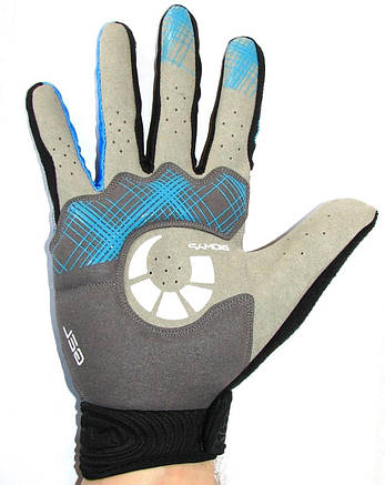 Велоперчатки NORTHWAVE L Черно-синий (C89122009 CHEQUERED BLUE L), фото 2