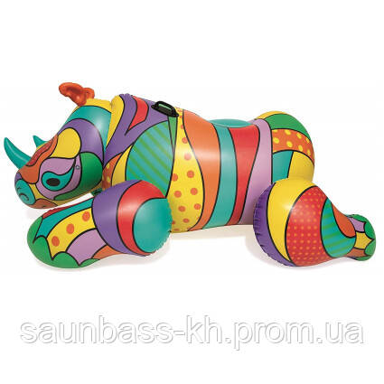 Круг для плавания Bestway 41116 Поп-арт носорог (201х102 см) уцененный