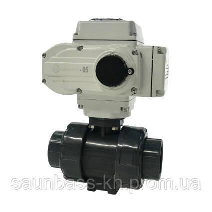 Кран кульовий з електроприводом Aquaviva d40 мм