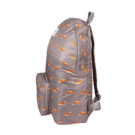 Рюкзак городской складной ANM Foxes Темно-серый с розовым (21416), фото 2