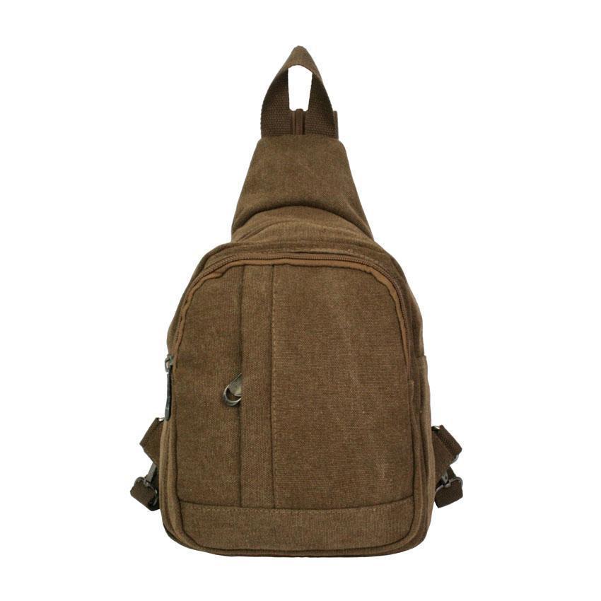 Рюкзак холщовый HikeUp Canto Коричневый (20929)