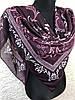 Большой женский платок хлопковый с орнаментом