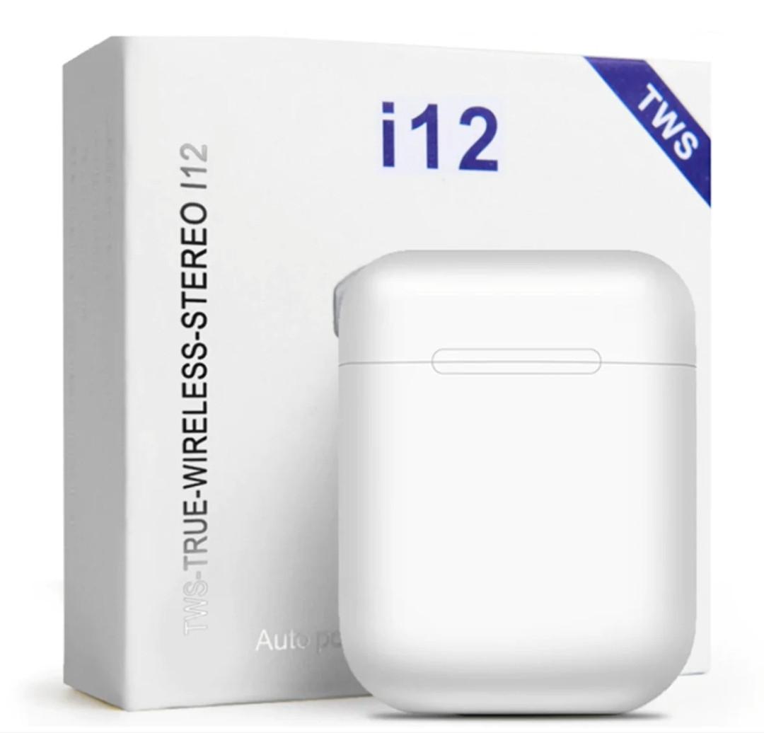 Беспроводные наушники i12 TWS Bluetooth White реплика