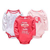 Набор боди с длинными рукавами для детей от 6-и месяцев ( 6-9 місяців )