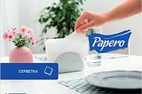 "Серветка 33*33 біла 100 шт ""Papero"" NL011 2сл., фото 1"