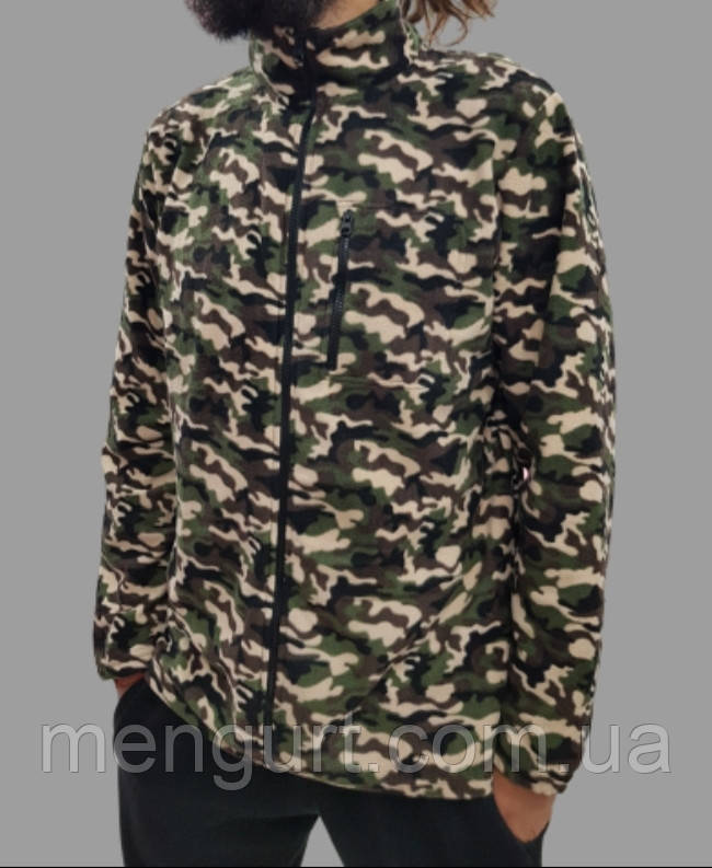 Флисовая кофта мужская камуфляж