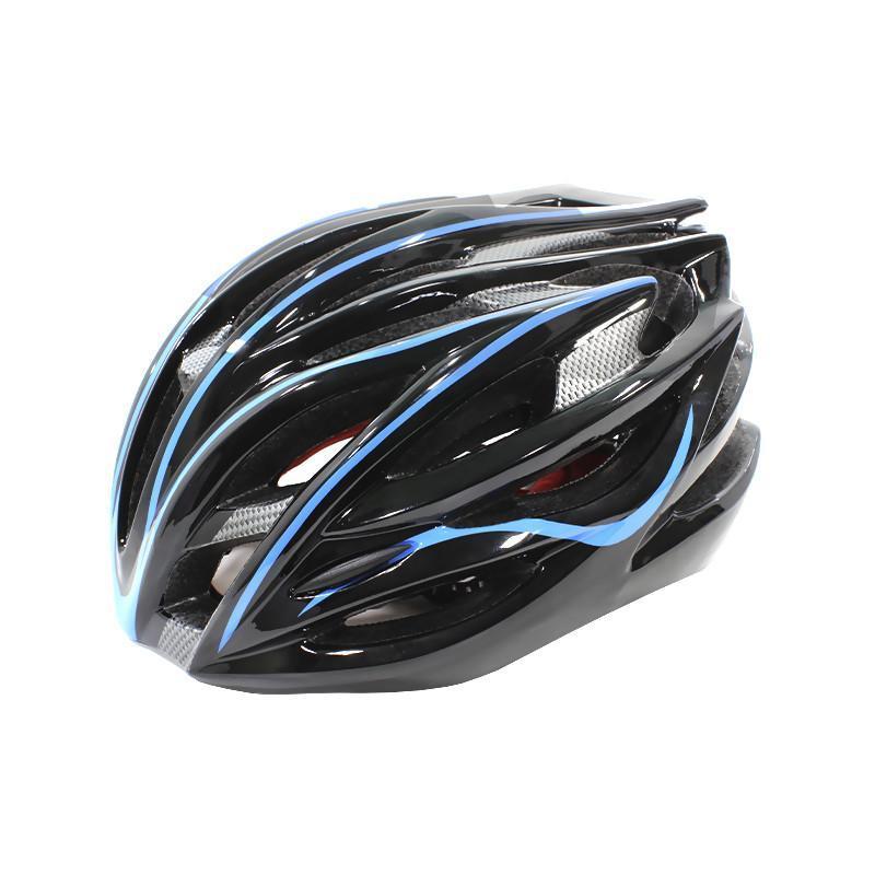 Шлем велосипедный Helmet Н-045 Черный с синим (4976-14170)