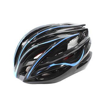 Шлем велосипедный Helmet Н-045 Черный с синим (4976-14170), фото 2
