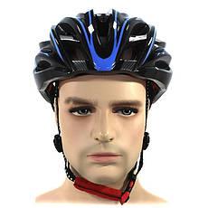 Шлем велосипедный Helmet Н-045 Черный с синим (4976-14170), фото 3