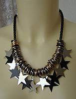 Ожерелье женское колье модное металл ювелирная бижутерия 4161