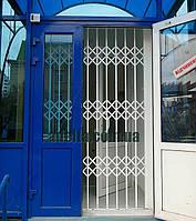 Решетка раздвижная на дверь Шир.1300*Выс2200мм для офисов, фото 1