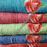 Полотенце банное махровое Цветочек