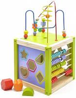 Куб-сортер на 5 игр,деревянный