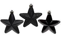 Ялинкові новорічні іграшки Зірки 7,5 см, набір 6 шт * 7,5 см, фото 1