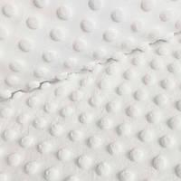 ✁ Відріз плюш Minky Молоко 100х80 см