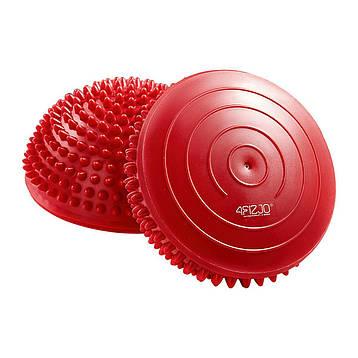 Полусфера массажная балансировочная (массажер для ног, стоп) 4FIZJO Balance Pad 16 см 4FJ0109 Red, фото 2