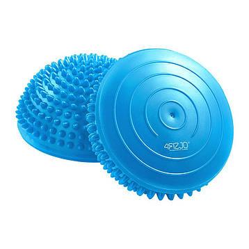 Полусфера массажная балансировочная (массажер для ног, стоп) 4FIZJO Balance Pad 16 см 4FJ0058 Blue, фото 2