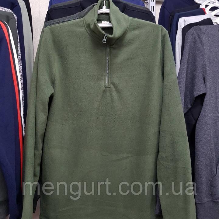 Флисовая мужская кофта большие размеры 58,60,62,64,66 воротник-стойка