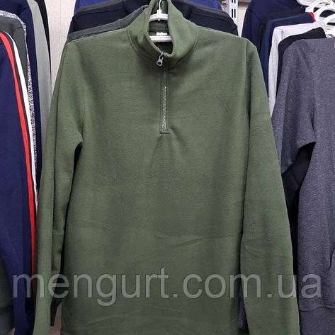 Флисовая мужская кофта большие размеры 58,60,62,64,66 воротник-стойка, фото 2