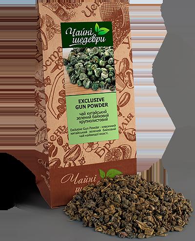 """Чай зеленый Exclusive Gunpowder ТМ """"Чайные шедевры"""", 500г"""