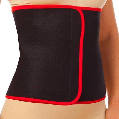 Пояс для похудения SB878XL (80% неопрен, 20% эластан, р-р XL- 28см x 115см x 3мм, черный-красный), фото 2