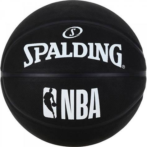 Мяч баскетбольный Spalding NBA Black Size 7, фото 2