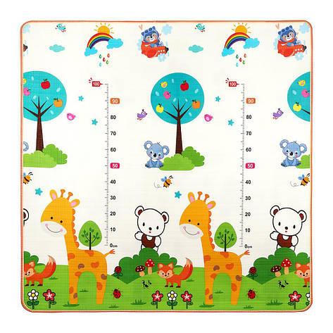 Развивающий детский коврик двухсторонний 4FIZJO KIDS 180 x 180 x 1 см 4FJ0161, фото 2