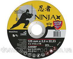 Отрезной диск NINJA по нержавейке/металлу 125 Х 2.0 Х 22.23 мм 65V128