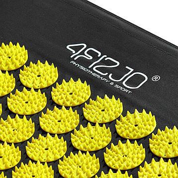 Коврик акупунктурный с валиком 4FIZJO Аппликатор Кузнецова 72 x 42 см 4FJ0086 Black/Yellow, фото 2