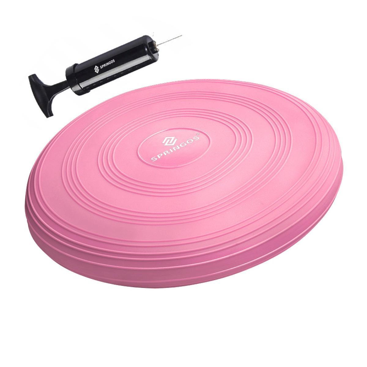 Балансировочная подушка (сенсомоторная) массажная Springos PRO FA0089 Pink