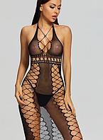 Сексуальное платье из мелкой сетки, фото 1