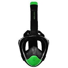 Маска для снорклинга (плавания) SportVida SV-DN0023 Size L/XL Black/Green, фото 3