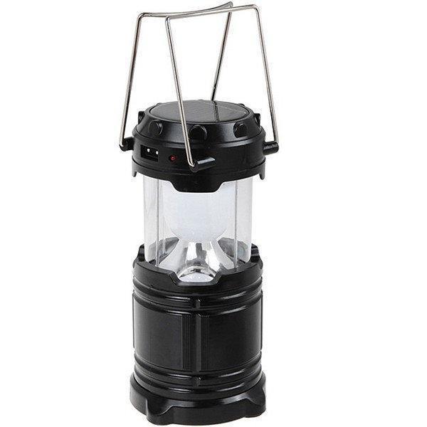 Фонарь Спартак G85 лампа для кемпинга USB солнечная панель powerbank Черный (004355)