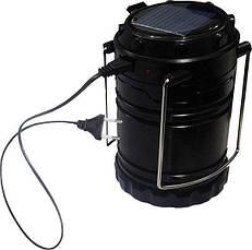 Фонарь Спартак G85 лампа для кемпинга USB солнечная панель powerbank Черный (004355), фото 3