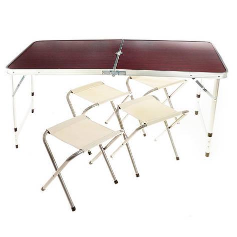 Усиленный стол для пикника с 4 стульями Rainberg (200582), фото 2