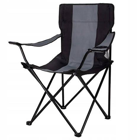 Кресло складное для кемпинга и рыбалки черно-серый  Springos, фото 2