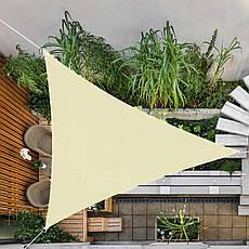 Тент-парус теневой для дома, сада и туризма Springos 5 x 5 x 5 м SN1013 Light Yellow, фото 2