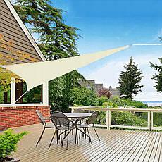 Тент-парус теневой для дома, сада и туризма Springos 5 x 5 x 5 м SN1013 Light Yellow, фото 3