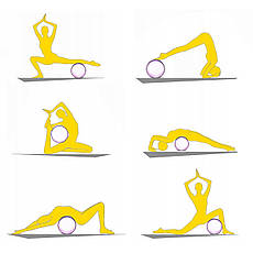 Колесо для йоги и фитнеса 4FIZJO Dharma XXL 4FJ0131 Yellow, фото 3