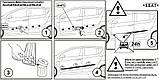 Молдинги на двері для Seat Ibiza II 3 door 6K 1993-2002, фото 5
