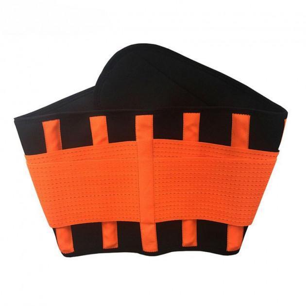 Пояс Power Belt Xtreme для похудения М Черно-Оранжевый (hub_eCag36974)