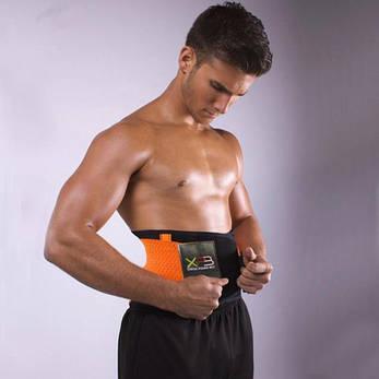 Пояс Power Belt Xtreme для похудения М Черно-Оранжевый (hub_eCag36974), фото 2