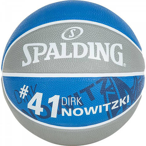 Мяч баскетбольный Spalding NBA Player Dirk Nowitzki Size 7, фото 2