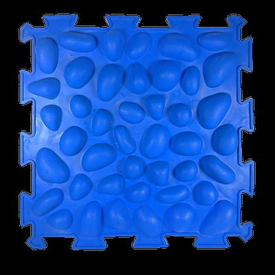 Коврик массажный Пазлы с эффектом морской гальки 1 элемент 26 х 26 см Синий (11k3700)