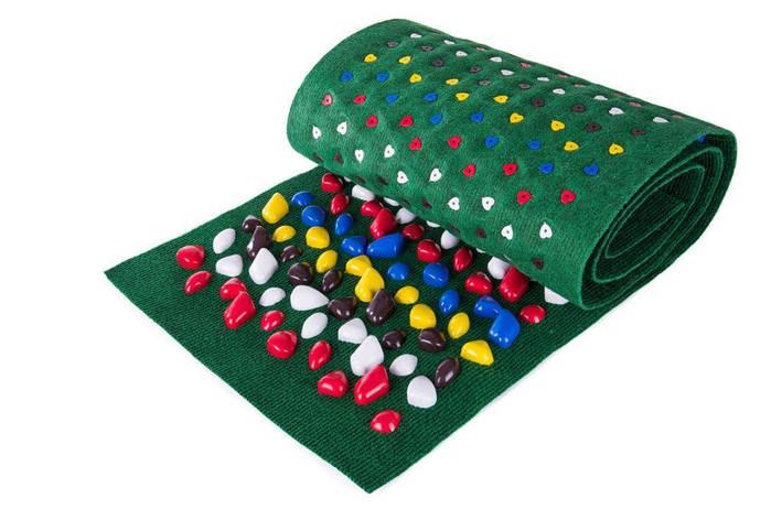 Массажный коврик Onhillsport Ортопед 200 х 40 см Зеленый (MS-1269), фото 2