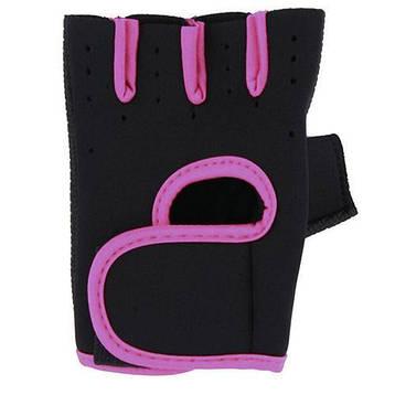 Перчатки для фитнеса TYUFH61g Черно-розовый (gab_krp100RkjH), фото 2