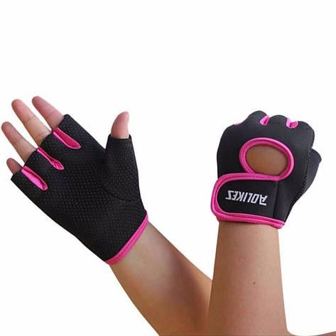 Перчатки для фитнеса Aolikes RQVACSDYQUW S Черно-розовый (gab_krp100Typh26685), фото 2